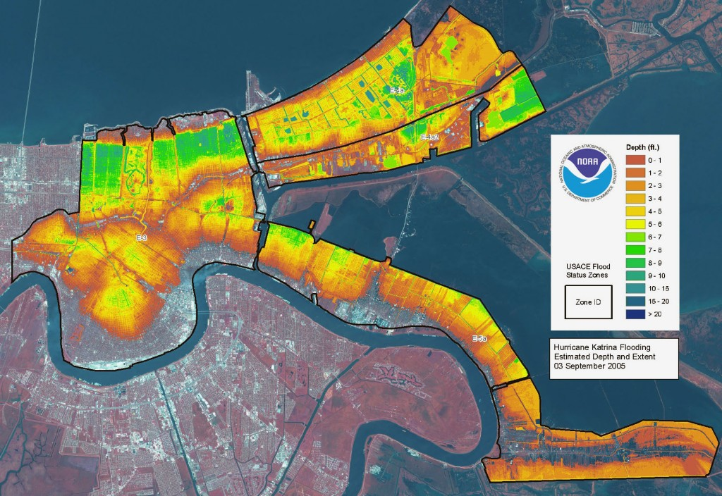 Levee failures during Hurricane Katrina flooded 80% of city and left only eight public schools unscathed.