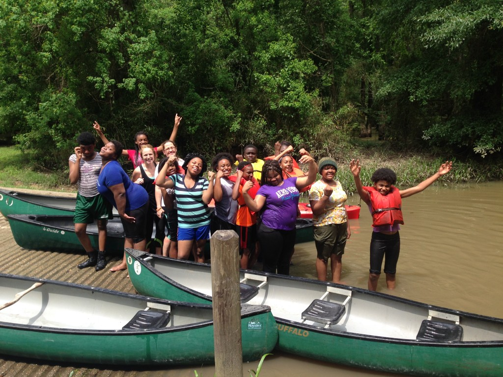 6th and 7th grade students at THRIVE enjoy a recent camping trip.