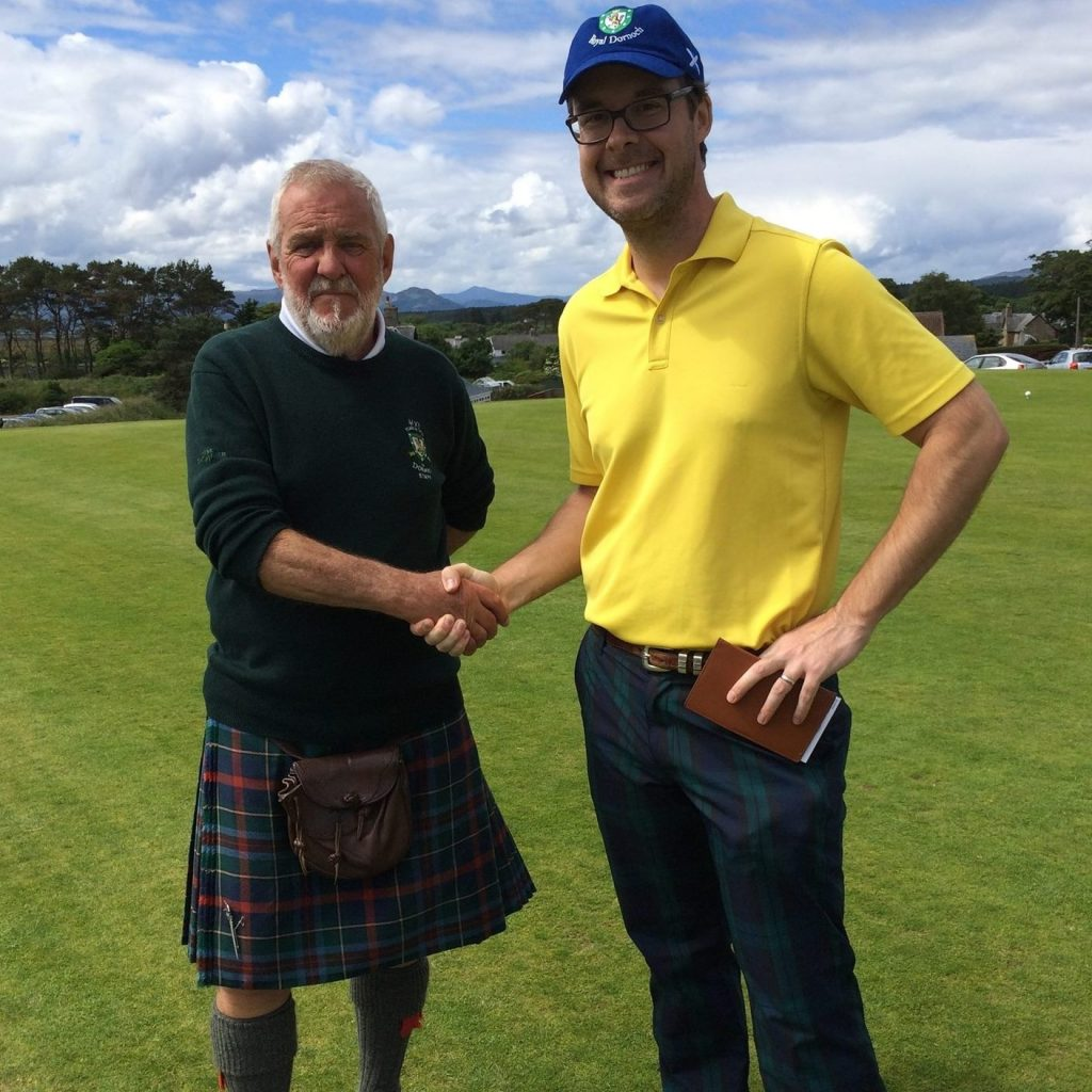 When Will Bardwell isn't trying to deny educational options from poor kids, he's harassing Scottish greenskeepers.