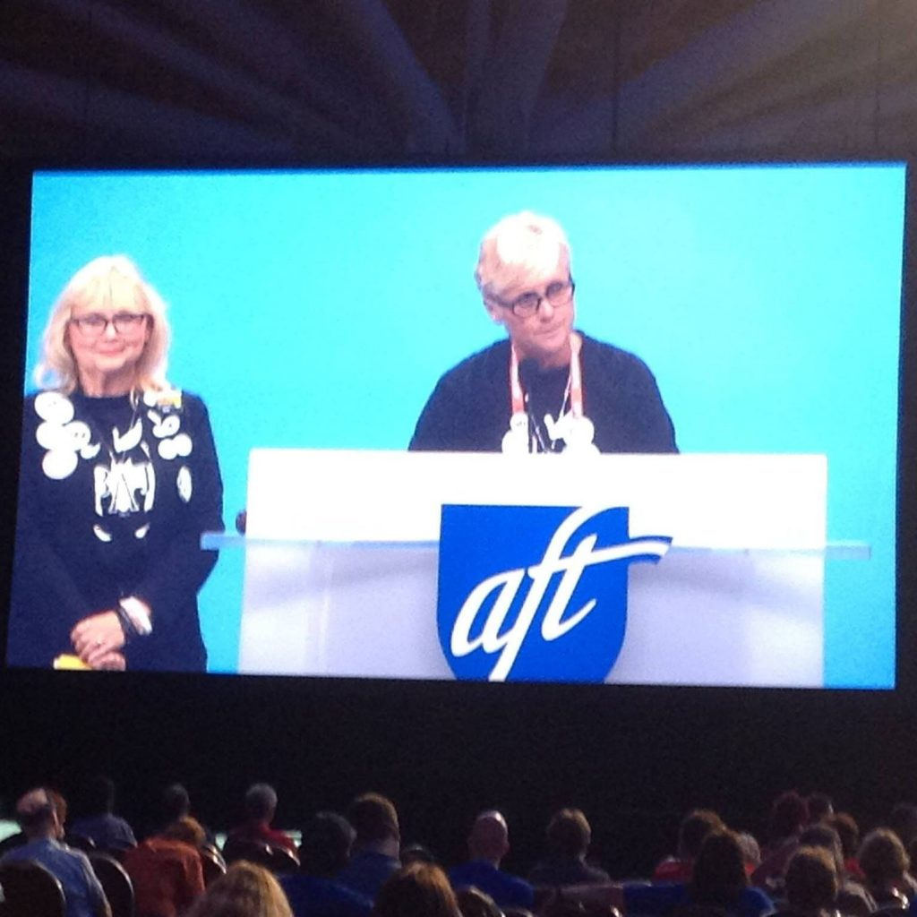 Kilfoyle was a ranking AFT delegate this year at the union's annual convention.