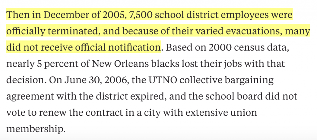 """From """"Why the Black Lives Matter movement has to take on charter schools"""" - Hechinger Report: August 10, 2016"""