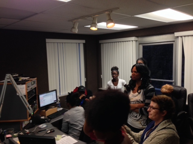Photo from the radio interview at WBOK-AM.