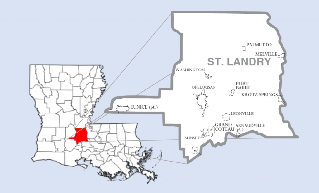 St. Landry sits smack dab in the middle of Louisiana's boot.