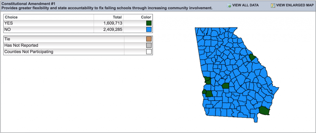 Screenshot from the website of the Georgia Secretary of State.